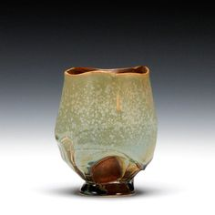Steven Hill  |  White stoneware yunomi with multiple glazes.