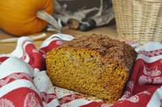 Yummy GF/DF pumpkin bread.  I added 2 Tbsp Chia seeds to the batter & sprinkled mini DF chocolate chips along the top