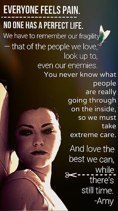 An inspiring quote from Amy Lee. Evanescence Quotes, Amy Lee Evanescence, Music Is My Escape, Music Is Life, Mein Style, Reading Rainbow, Screwed Up, Favim, Punk