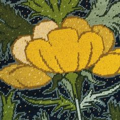 Brightening your day with Buttercups from Raymond Honeyman's Art Nouveau series. Art Nouveau Flowers, Tapestry Kits, Needlepoint Kits, Brighten Your Day, Buttercup, Art Lessons, Needlework, Cross Stitch, Bloom