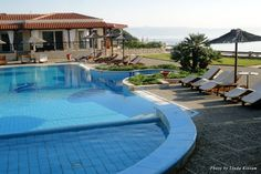 Pool area of the Blue Bay Hotel
