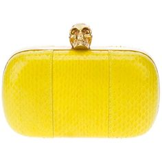 ALEXANDER MCQUEEN snake-textured clutch ($1,510) ❤ liked on Polyvore