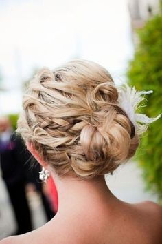 another lose updo with braids