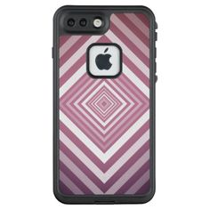 Modern Pink & White Gradation Squares LifeProof FRĒ iPhone 7 Plus Case - pattern sample design template diy cyo customize
