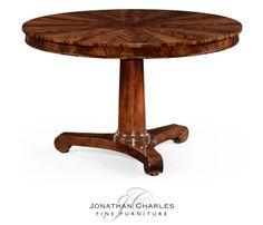 Flame mahogany Biedermeier breakfast table #hpmkt #jcfurniture #jonathancharles #Furniture #InteriorDesign #decorex #Knightsbridge