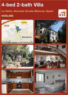 4-bed 2-bath Villa in La Sella, Alicante (Costa Blanca), Spain ►€450,000 #PropertyForSaleInSpain