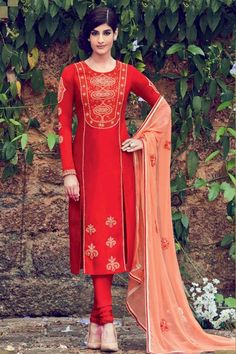 Step out in style, Churidar cotton cheap indian prom suit, Red embroidered andaaz costumes now in shop. Andaaz Fashion brings latest designer ethnic wear collection in UK   http://www.andaazfashion.co.uk/salwar-kameez/churidar-suits/red-cotton-and-satin-churidar-suit-with-dupatta-dmv14150.html