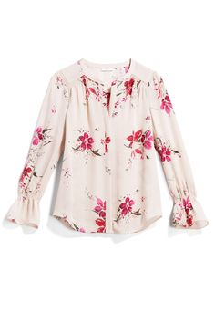 StitchFi 1/31/18 ... This isn't my usual style, but I like the print and the sleeves aren't too crazy frilly.  If it is easy care, this would work for me.  I'm so picky with floral prints and I'm not usually into floppy sleeves ... I do like this specific one, though.