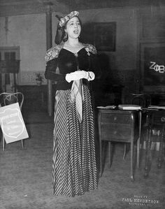 Opera Singer, Madame Lillian Evanti, sings for her sorority, Zeta Phi Beta 1930s