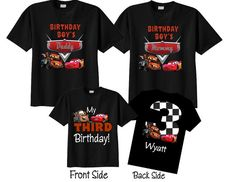 3rd Birthday Shirts for Mom and Dad Family Birthday by TheCuteTee
