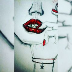 Always fail at lips, but love this • @xxnakitaxx @my.sketches.xx