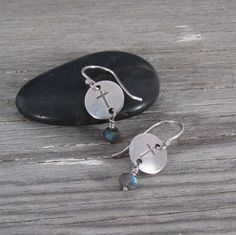 Sterling Silver and Labradorite Dangle Cross by QuietTimeJewelry, $26.00