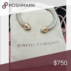Beautiful David Yurman Bracelet Gold and Silver w/ Diamonds. David Yurman Jewelry Bracelets