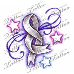 cancer ribbon tattoos | Brain Cancer Tattoo Ribbon Createmytattoocom