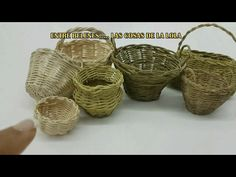 Wicker Baskets, Nativity, Miniatures, Diorama, Crafts, Google, Youtube, Decor, Basket Weaving