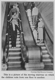 """Moving stairway"" photo by Otis Elevator Co. by katinthecupboard, via Flickr"