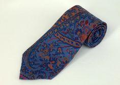 Etro Tie - Electirc Blue & Pink Floral Paisley Silk Necktie  #Etro #NeckTie