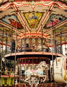 """gatsbywise: """" metallus: """" Waiting for the princess… Thessaloniki, Greece 2013 """" Art rapidly disappearing - """" Queen Of Love, Merry Go Round Carousel, Carnival Rides, Painted Pony, Fun Fair, Carousel Horses, Black N White Images, Thessaloniki, Greece"""