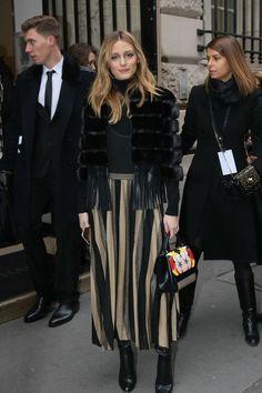 Olivia Palermo con un vestido de Zara en el desfile de Elie Saab. Así ha sido el concurrido 'front row'