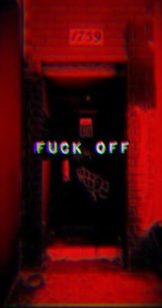 Fuck off || edgy grunge aesthetic wallpaper