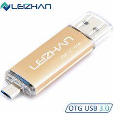 LEIZHAN OTG USB 3.0 Flash Drive High Speed 8GB 16GB 32GB Pen Drive USB Pendrive Customized Logo Pen Drive Memory Stick U Disk #Affiliate