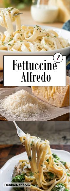 Who doesn't love the creamy goodness of a silky alfredo sauce over perfectly cooked fettuccine This pasta dish is quick and easy to make, but you'll always get rave reviews! | DebbieNet.com
