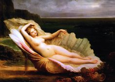 Venus by Henri-Pierre Picou (b. Nantes 27 February 1824 – d. 17 July 1895) Oil on canvas, 81.9 × 61 cm (32.2 × 24 in) Private collection https://en.wikipedia.org/wiki/Henri-Pierre_Picou