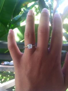 1.75 carats, cushion cut solitaire, engagement ring
