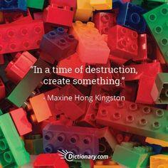 Quotable – Maxine Hong Kingston – Writers Write