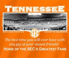 Tennessee Volunteers Football T-Shirts - Welcome To The SEC Neyland Stadium - Unique College T-Shirts Tn Vols Football, Tennessee Volunteers Football, Tennessee Football, Tennessee Titans, Vol Nation, Neyland Stadium, Pat Summitt, Tennessee Girls, Orange Country