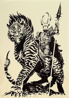 Manticore Knight by francesco-biagini on DeviantArt The Elder Scrolls, Aliens, Character Art, Character Design, Manticore, Sword And Sorcery, Fantasy Warrior, Fantasy Artwork, Creature Design