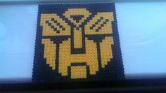 DIY Hama Beads - Bumblebee from Transformers Hama Beads, Pinewood Derby, Disney Tips, C2c, Plastic Canvas Patterns, Crochet Blankets, Kandi, Bead Patterns, Bead Weaving