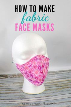 How to Make Fabric Face Masks, With this free pattern and tutorial learn to make this fabric face mask in not time using beginner sewing skills. Sewing Basics, Sewing For Beginners, Sewing Hacks, Sewing Tutorials, Basic Sewing, Sewing Tips, Small Sewing Projects, Hand Sewing, Easy Face Masks
