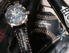 Gold Winner watch face with custom strap. Strap by BaseballWatches