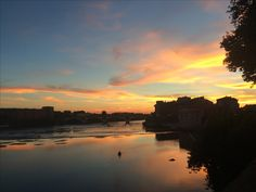 France, Toulouse, Pink city at the sunset on the Garonne. Europe, French Trip