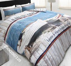 DreamHouse Dekbedovertrek - Sailing Away - 200x200-220 cm - 100% zacht katoen