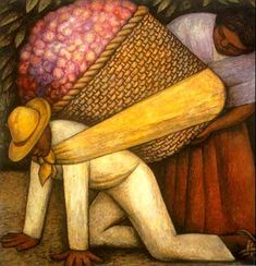 Diego Rivera, The flower carrier (1935)  Oil and tempera on masonite  San Francisco Museum of Modern Art
