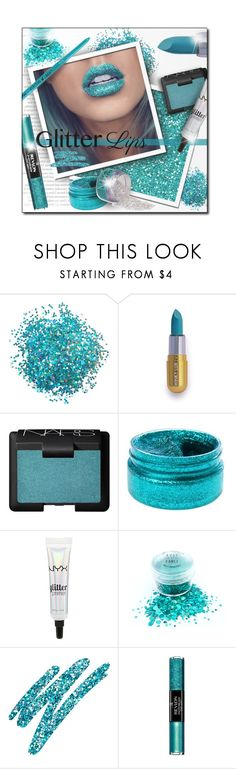 """#540 - Glitter Lips"" by lilmissmegan ❤ liked on Polyvore featuring beauty, NARS Cosmetics, NYX, Urban Decay, Revlon, Beauty, glitter and glitterlips"
