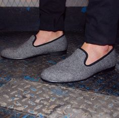 Tweed loafers.
