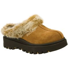 Skechers Women's Shindigs - Fortress Brown - Skechers ($50) ❤ liked on Polyvore featuring shoes, brown, brown clogs, skechers shoes, clogs footwear, skechers footwear and skechers clogs