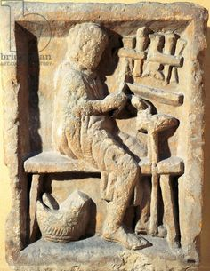 Relief depicting an artisan workshop, cobbler (?) at work (2nd cent.) - Museo della Civilta Romana, Rome, Italy
