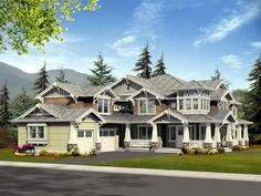 Bungalow Craftsman House Plan 87586
