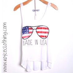 Made in USA Memorial Day tank LARGES in stock more Sizes are coming!!! $18 FREE SHIPPING www.royceclothing.com these are regular length tanks FYI #memorialday #memorialdaytank #summer #summerlove #summertank #summergirls #onlineshopping #royceclothing #freeshipping