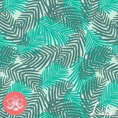 palms - green pattern palm trend