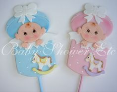 """Baby Shower Baby In Gift Box Party Pic Decorations or Party Favors - Baby measures 5"""" Tall X 3"""" Wide on 8"""" Party Pic $7.50"""