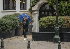 Parapluie long en forme d'étoile bleu, star umbrella blue, rainy outfit, outfit with rain, tenue de pluie, le monde du parapluie Long Umbrella, Jeans, Rainy Outfit, Star Shape, World, Blue, Jeans Pants, Blue Jeans, Denim Jeans