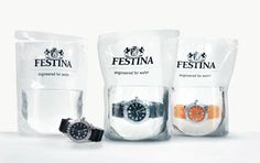 water proof watches sold in a package of water