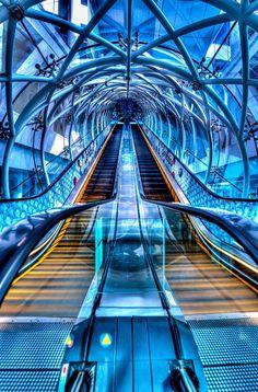 Fusion escalator, Singapore.