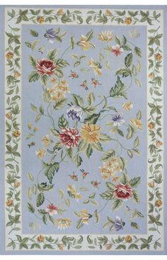 Momeni Spencer Spencer 16 Blue Rug | Country & Floral Rugs #RugsUSA