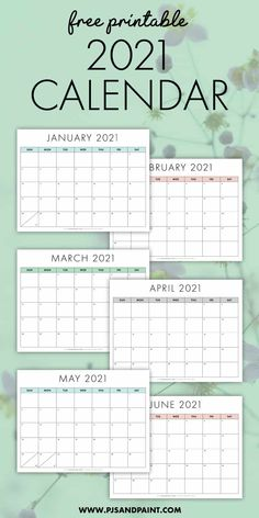 Start your yearly planning early with this free printable 2021 calendar! With a Sunday start and fun colors, this calendar will be the perfect tool for. Printable Blank Calendar, Monthly Planner Printable, Printable Calendar Template, Kids Calendar, Calendar Pages, 2021 Calendar, Free Printables, December Calendar, Monthly Calendars